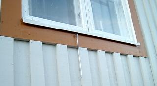 Rätta fönsterbleck.
