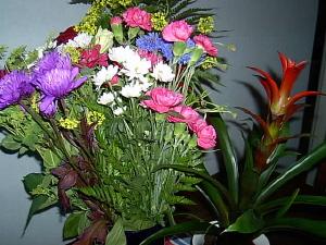 Blommor från avslutningen.